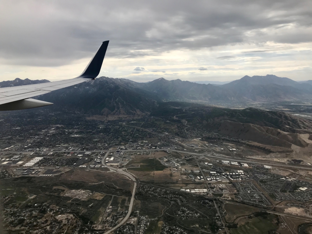 The view from the airplane as I flew home to Colorado