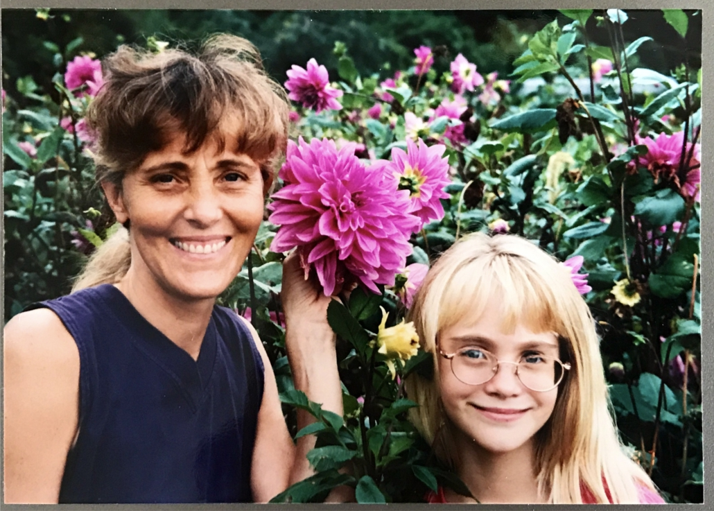 Photo of my mom and me when I was 8 years old